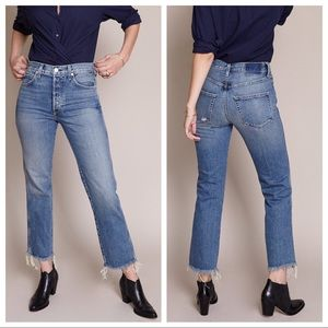 amo - NWT layla high-rise relaxed straight jean